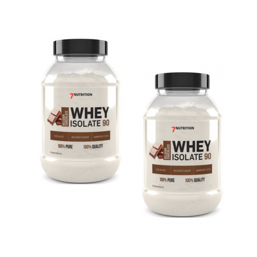 2 x 7Nutrition Whey Isolate 90 500g
