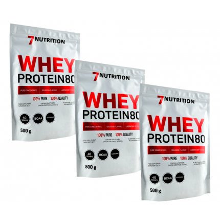 3x 7Nutrition Whey Protein 80 500g