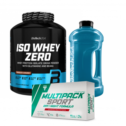 BioTech Iso Whey zero 2,27 + Trec multipak day/night + Gallon