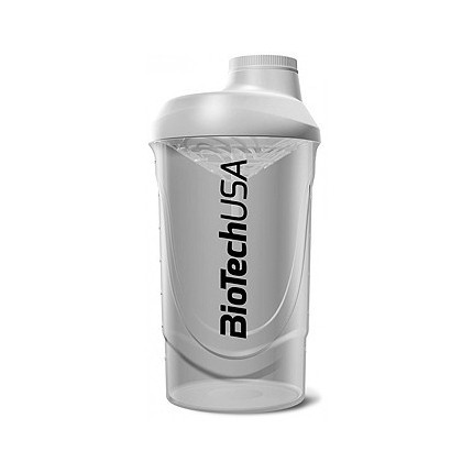 BioTech Shaker Wave 600ml - Transparent