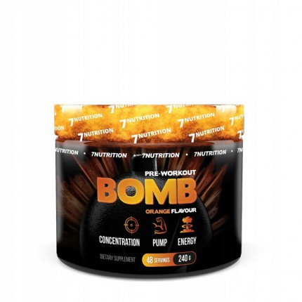 7Nutrition BOMB Pre-Workout 240g - Orange